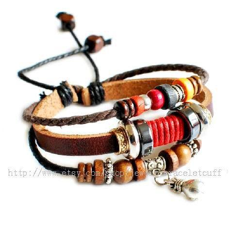 jewelry bracelet leather bracelet men by jewelrybraceletcuff, $8.00