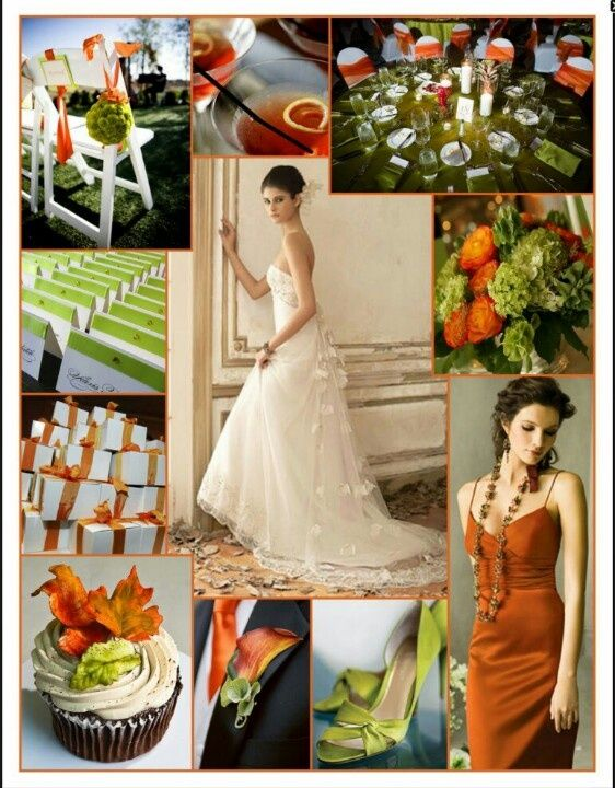 olive green wedding decor rust color wedding rust orange and olive green color 6242