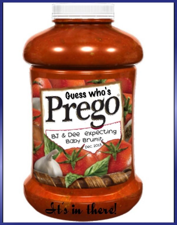 Prego! It's in there!