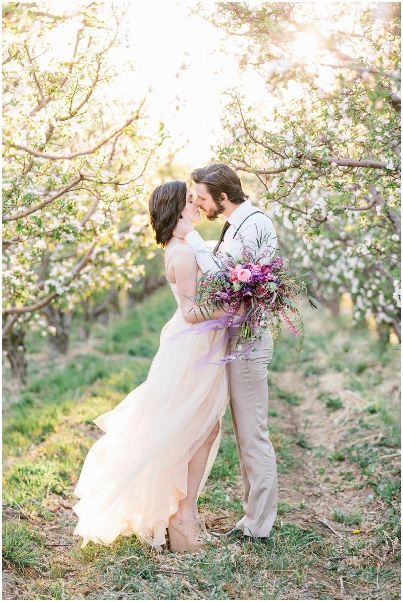 Beautiful Spring Blossom Wedding Shoot by Alyssia B Photography