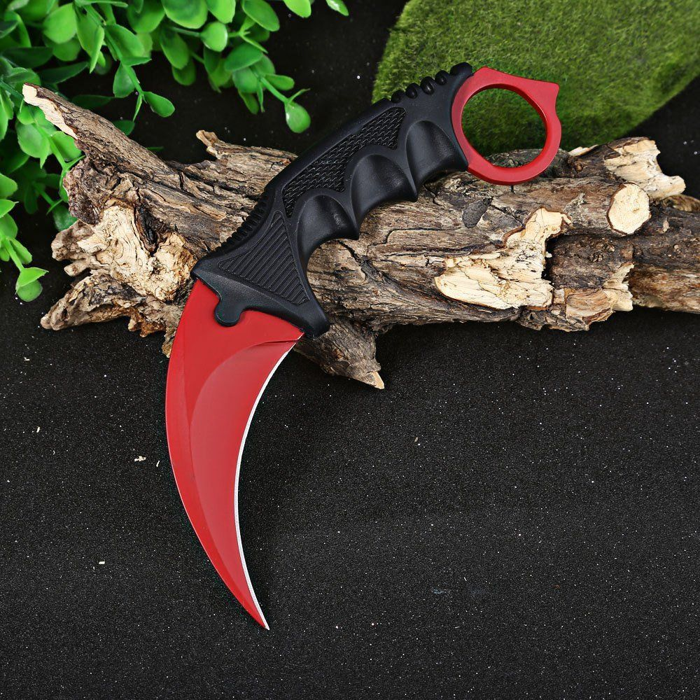 Karambit Knife Cs Go Counter Strike Red Color Tactical Knife Survival Camping Hunting Knives Cool Handmade Travel Kits Tools For Knife Karambit Knife Karambit