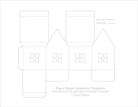 Paper House Template Download