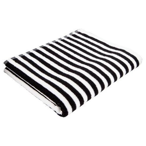Tesco Direct Tesco Black White Stripe Bath Towel Striped Bath Towels Striped Towels Black And White Towels