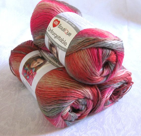 Boutique Unforgettable HEIRLOOM, rose grey amber variegated worsted ...
