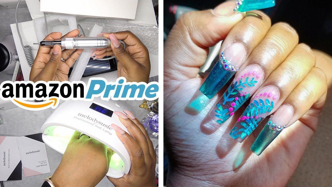 DIY Testing a Nail Drill and Nail Lamp from Amazon Prime