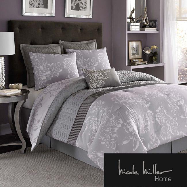 nicole miller floral comforter set overstock shopping great deals on nicole miller comforter sets