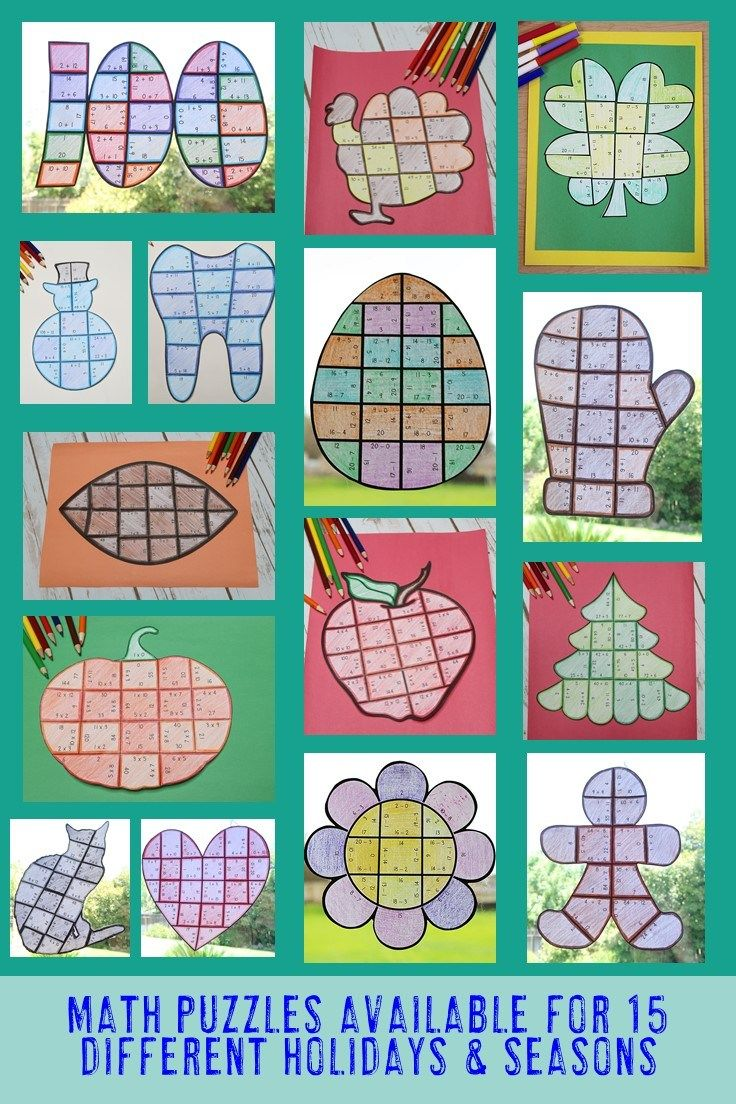 Math Puzzles for Elementary Students   Math enrichment, Math and ...
