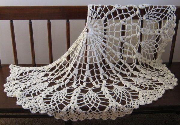 Pineapple Lace Shawl (crochet) | crochet | Pinterest | Shawl and Crochet