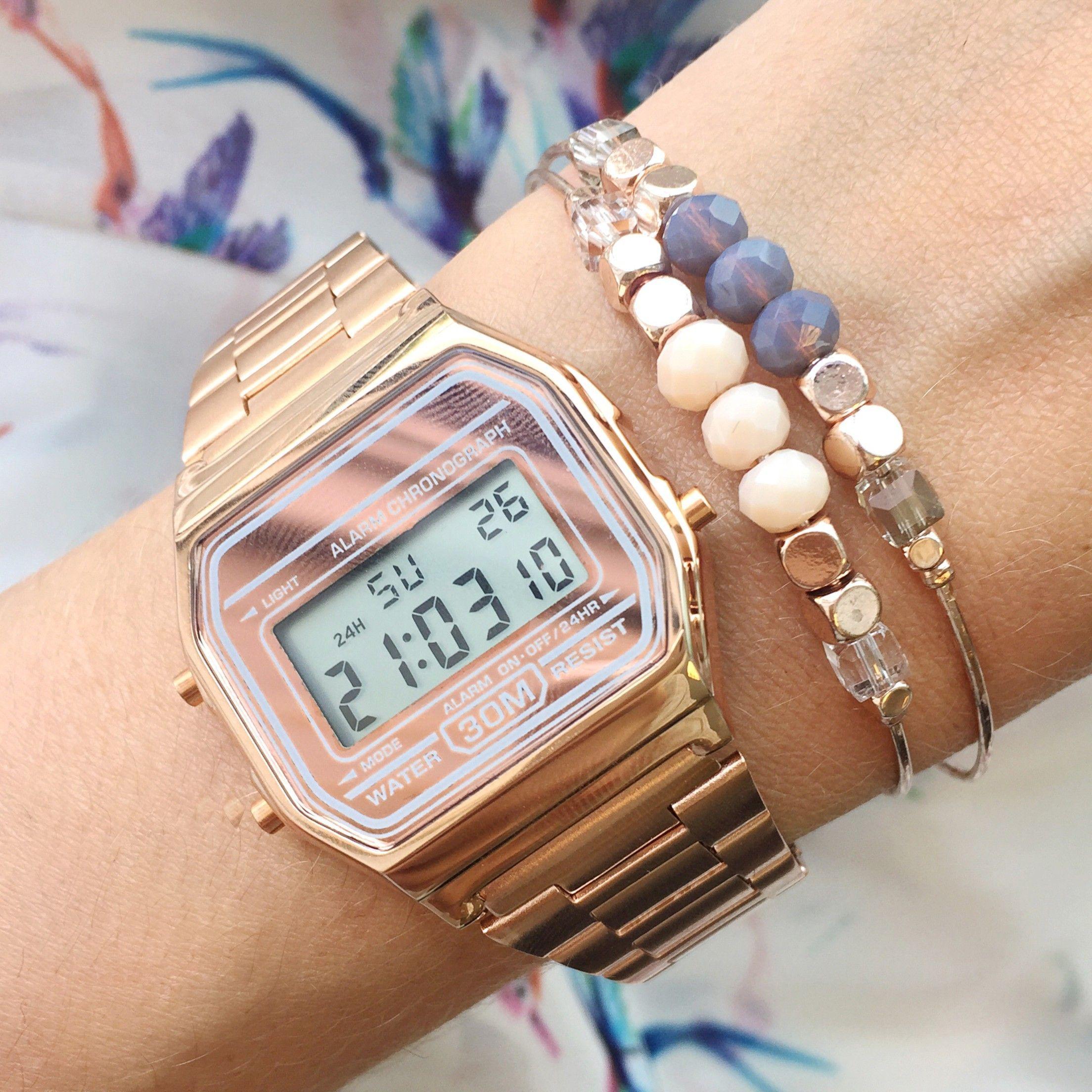 b420b9c7632 Vintage Casio Watch Rose  GoldInvesting