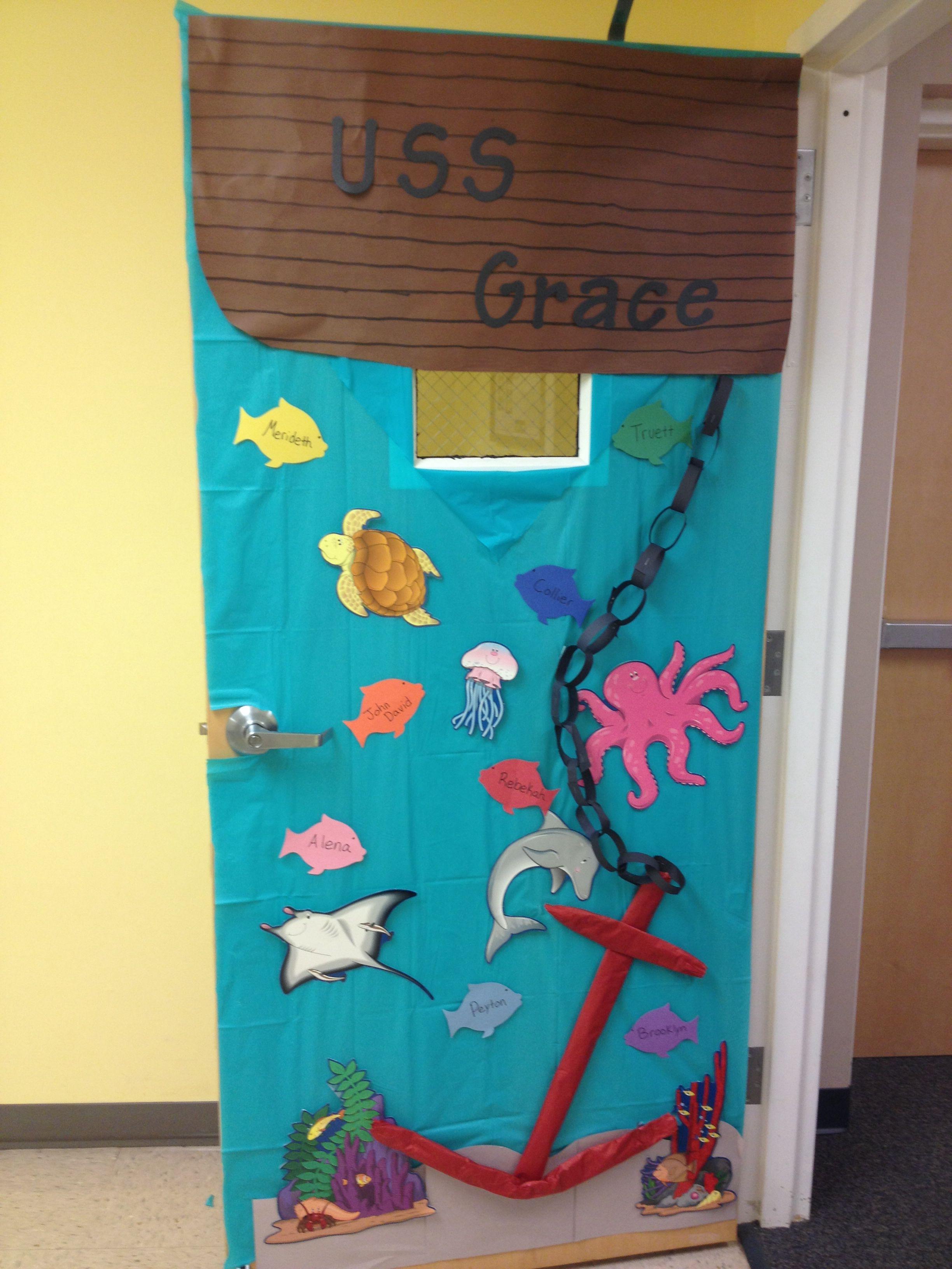 Underwater Classroom Door Decoration