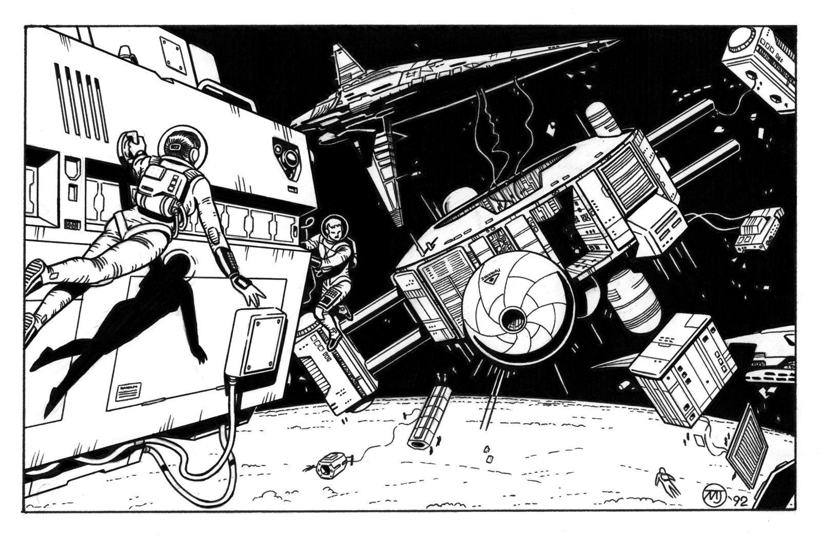 Renegade Legion - Space Construction by SteamPoweredMikeJ.deviantart.com on @DeviantArt