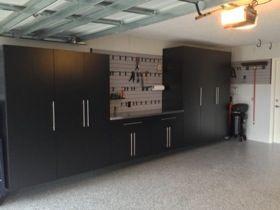 20130214 154147 (280×210). Garage CabinetsGarage FlooringBlack  CabinetsGarage IdeasDriveway IdeasGarage LockersGarage Cupboards