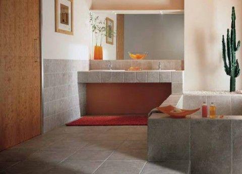 pietra d' assisi: grigio   tile bathroom, bathroom floor