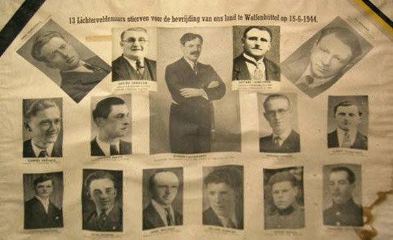 13 men from Lichtervelde (Belgium) were beheaded in Wolfenbüttel (Germany) on the 15th of 1944. They were all members of the White Brigade, the Belgium Resistance. Remember all the fallen soldiers but also these men, they gave their lives for the liberty for the little village of Lichtervelde! ~