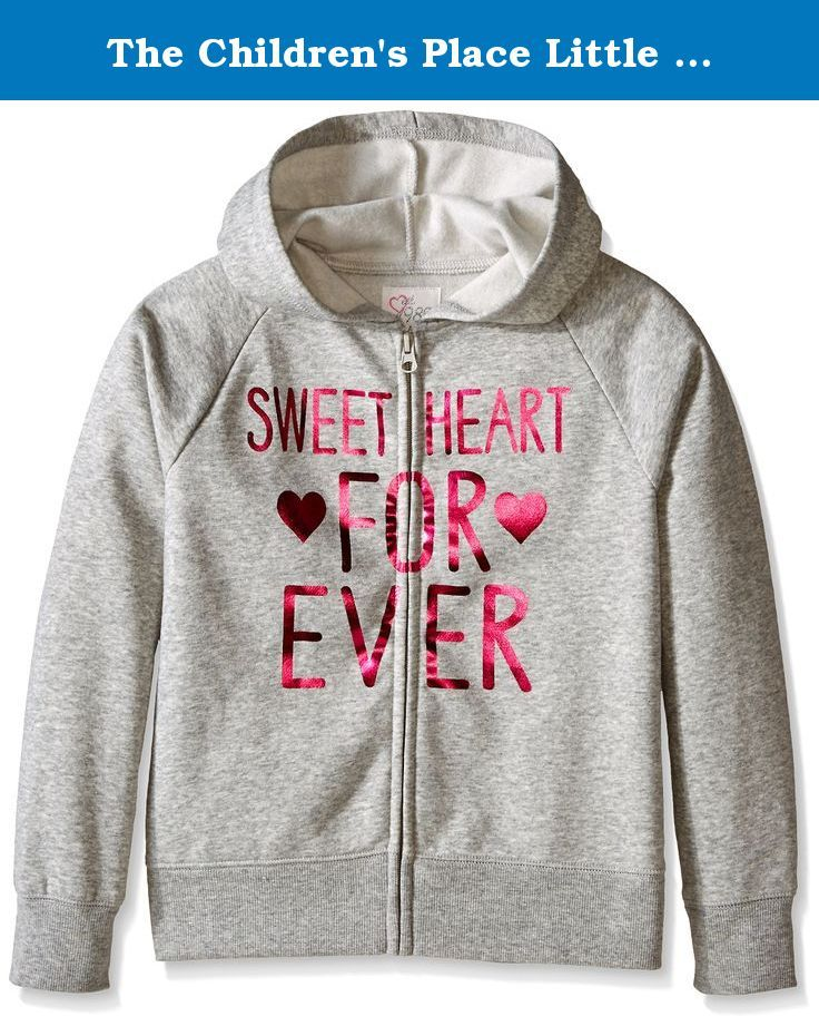 The Children's Place Little Girls' Active Hoodie, Heather Grey, Small/5-6.  Comfort meets style with this fashionabl…   Active hoodie, Hoodies,  Childrens place girls
