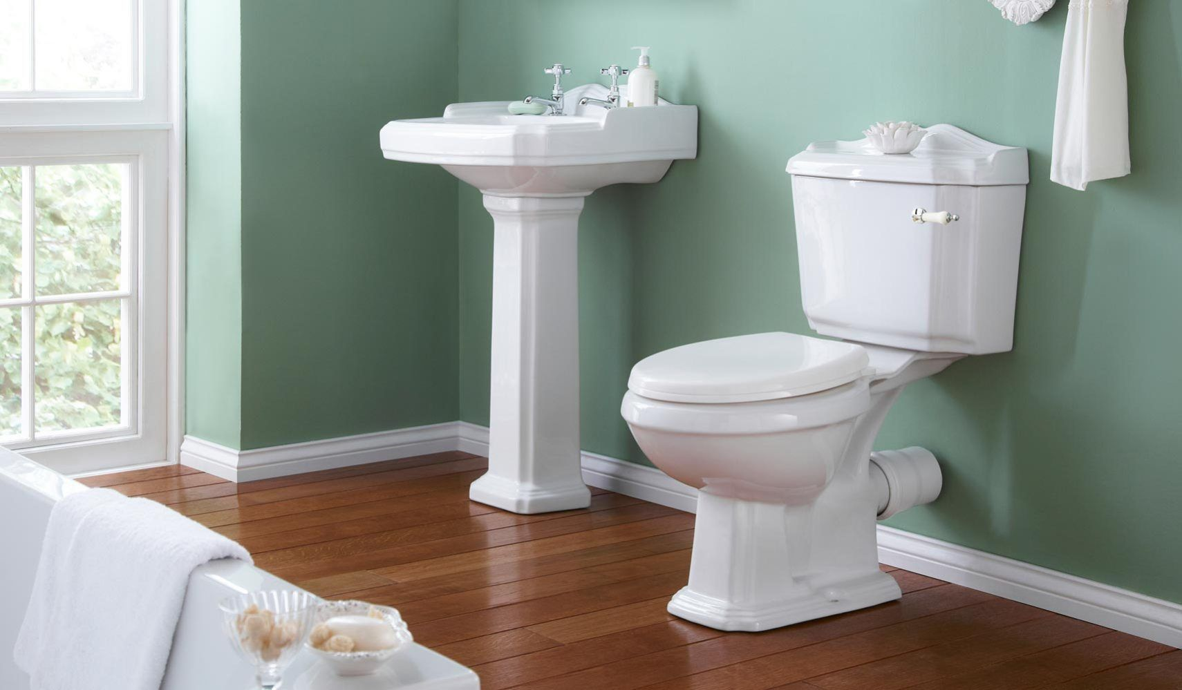 Legend Traditional Bathroom Suite At Victorian Plumbing Uk: The Perfect Pair That Belong Together And Would Go
