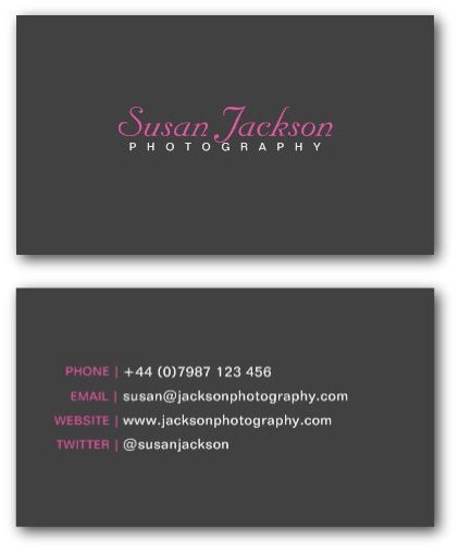 Simple photographer business card template learning my camera simple photographer business card template reheart Gallery
