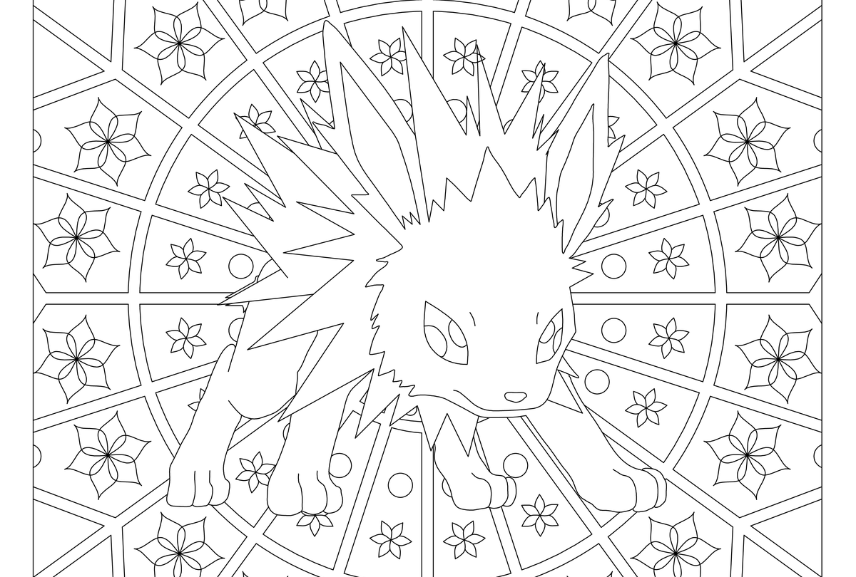 Jolteon Pokemon #135 | Coloring Pages | Pinterest