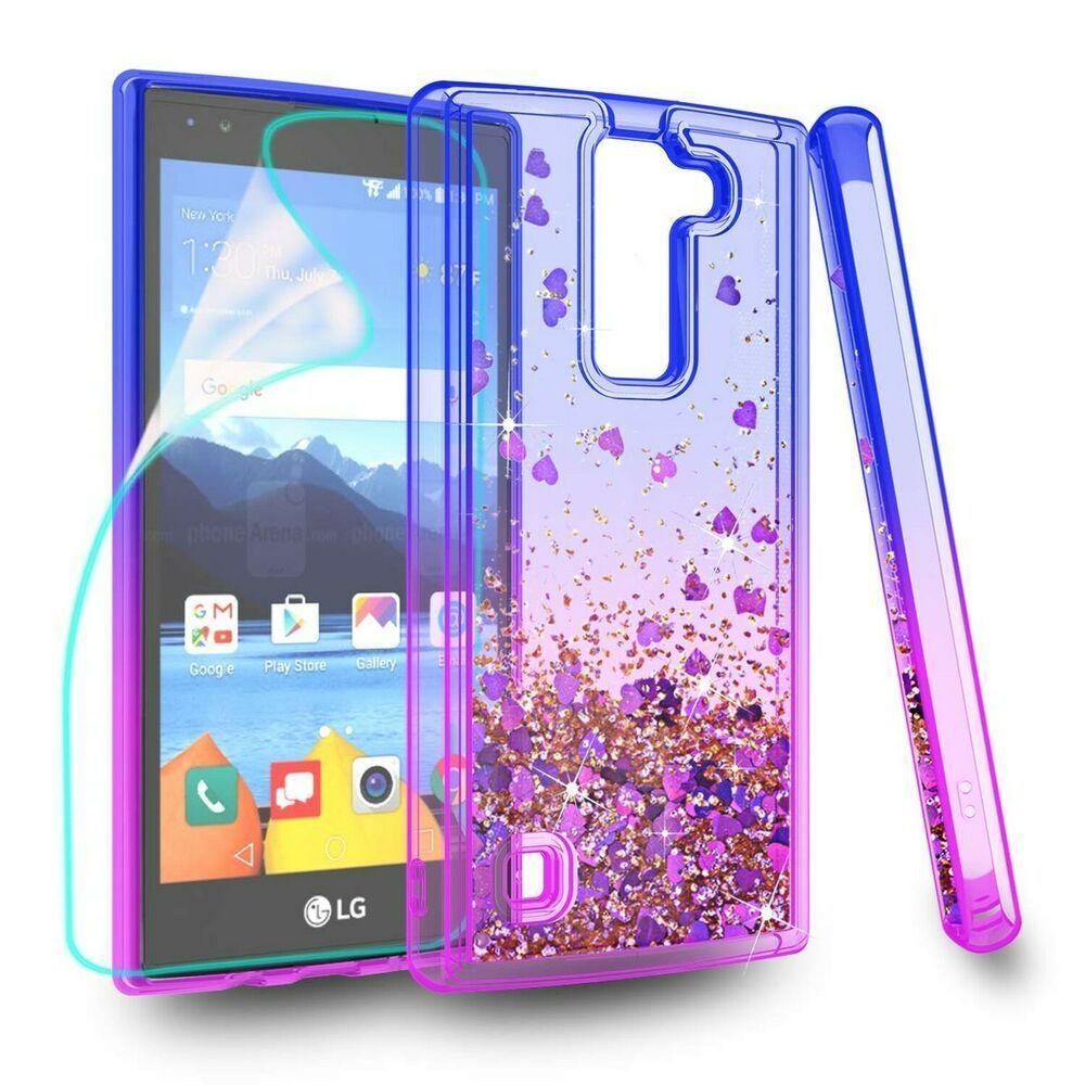 meet d75e6 439d7 ZingCon Suit for LG K8 V Case K8V VS 500 Phone Case Glitter Case ...