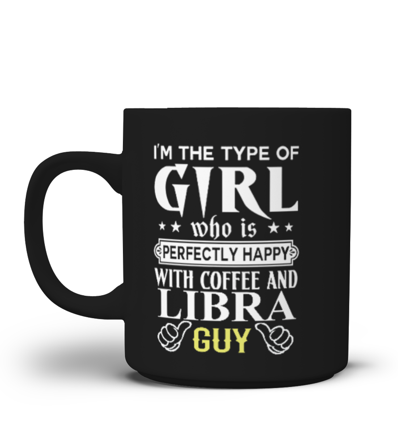 LIBRA GUY AND COFFEE GIRL MUG Birthday September Shirt Gift Ideas Photo Image Study Libra Schoolback Horoscope