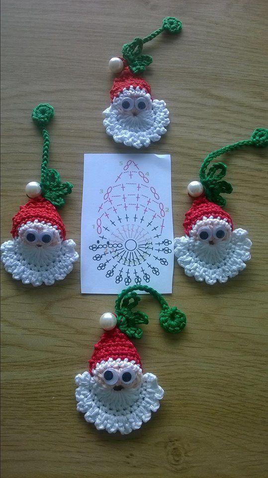 Photo of Crochet Santa Ornament