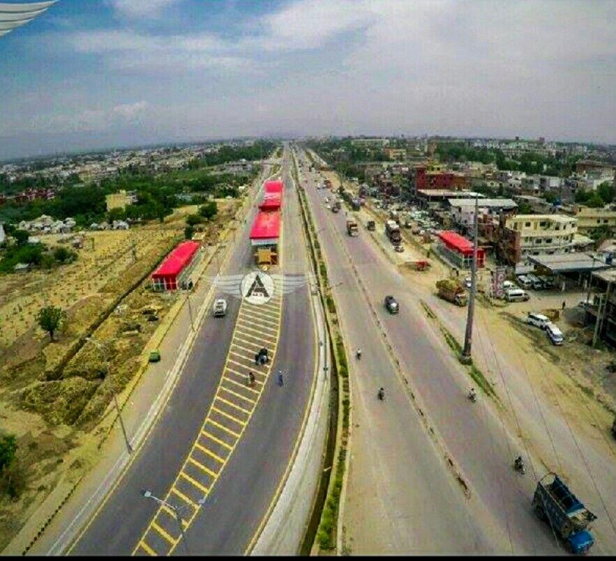 Metro Bus Islamabad: Islamabad Metro Bus, Arial View Of IJP Road Station