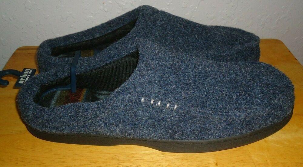 b669f2269a3 Men's Urban Pipeline Blue Microsuede Mule Scuff Slippers Size XL (12 ...