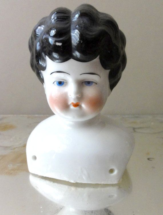 Vintage Porcelain Doll Head Germany By