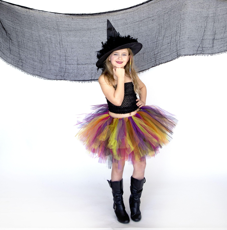 Fabric Tutu Girl/'s Halloween Tutu Pumpkin skirt Orange and Purple Baby Tutu Halloween Gift Pumpkin Tutu Toddler Girl/'s Tutu