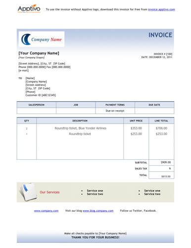 Travel Invoice | Travel Invoice Template Free Invoice Template By Hloom Com Atiqa