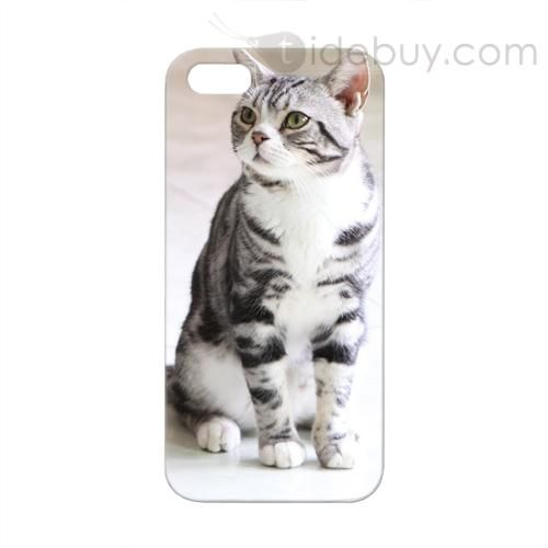 Staring Cat Pattern Protective Hard Cases for iPhone 5 : Tidebuy.com