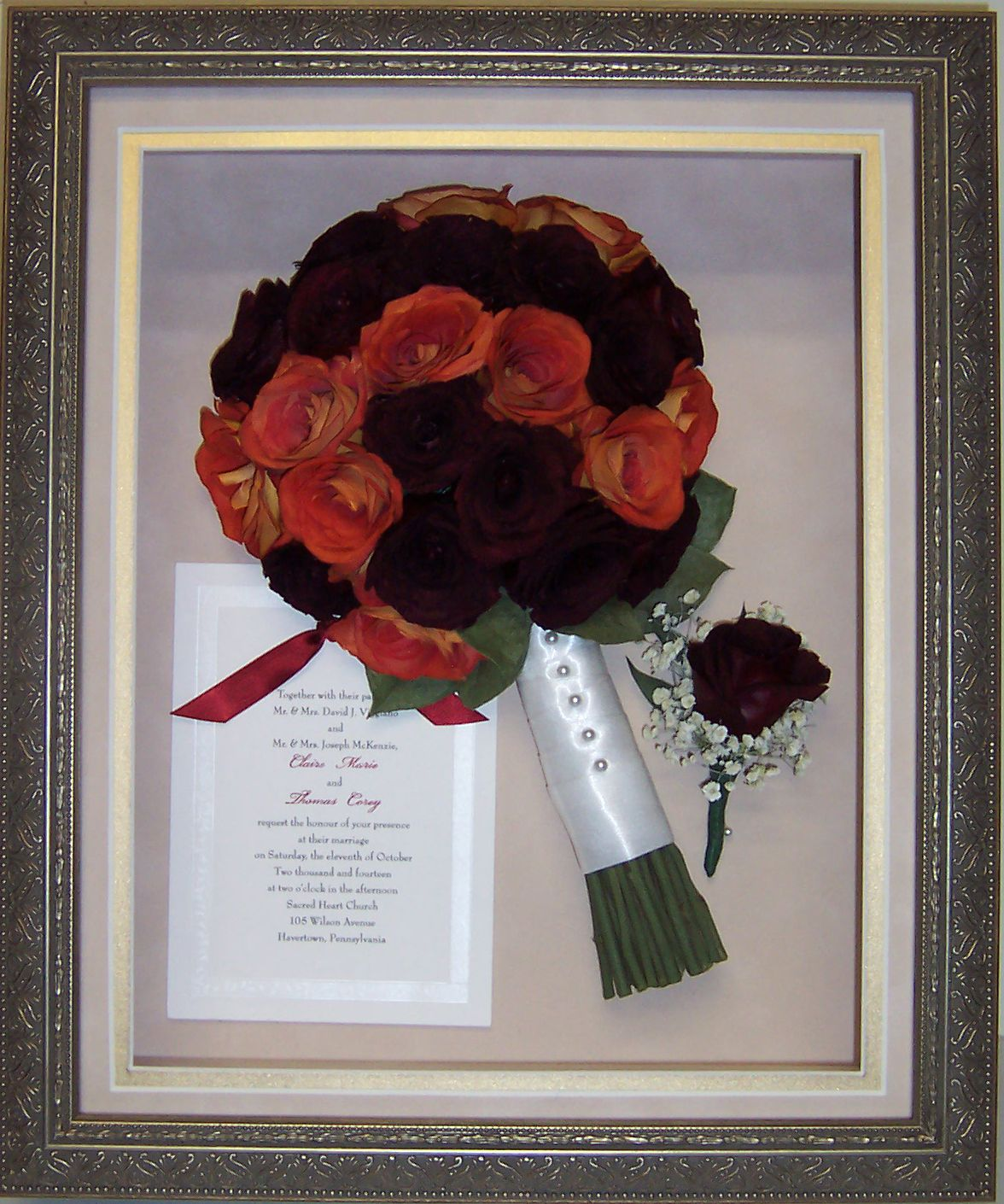 Claire Viggiano - McKenzio framed her beautiful red and orange ...