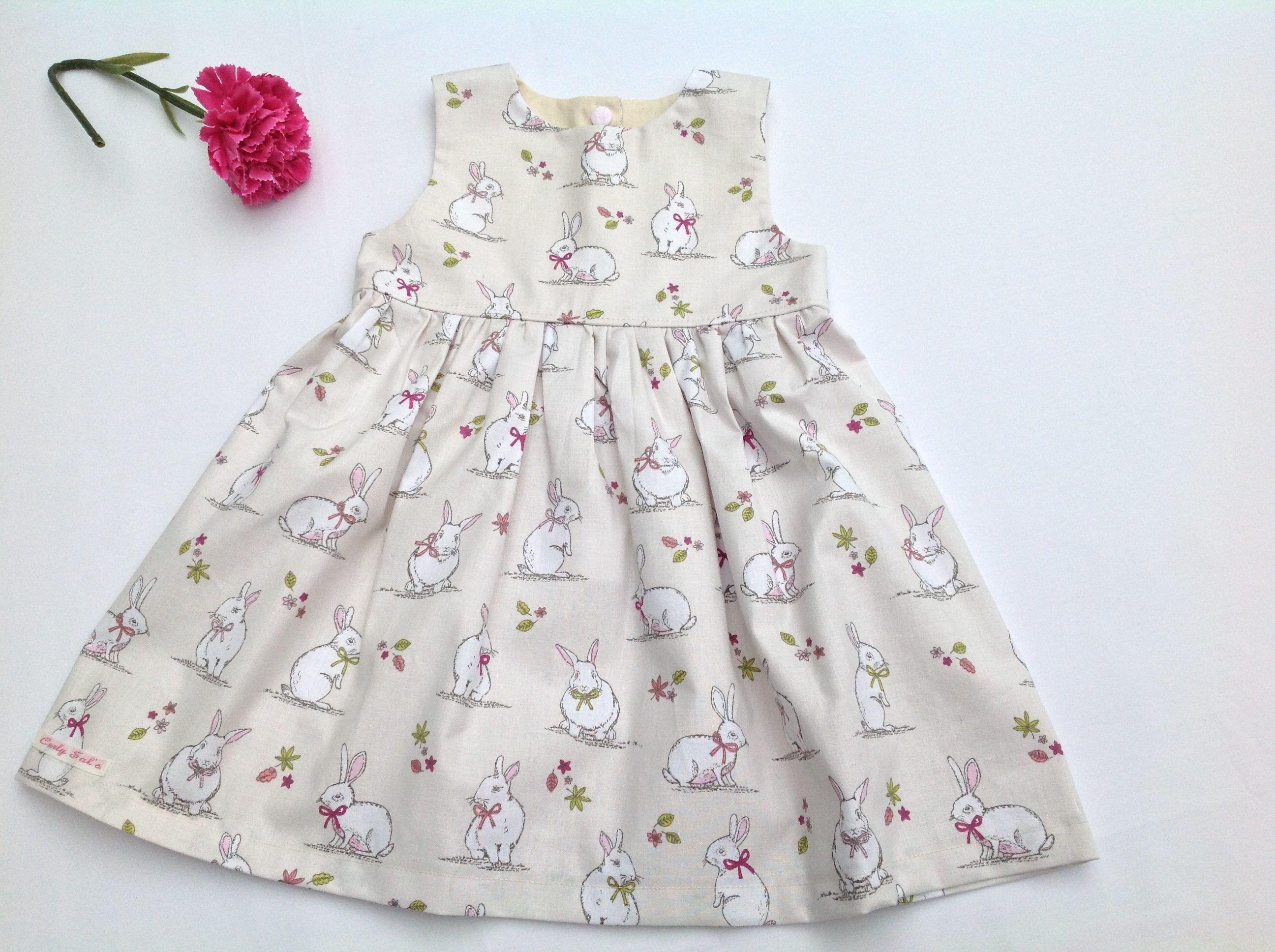 Girls Easter Dress Easter rabbit dress baby girl Easter dress