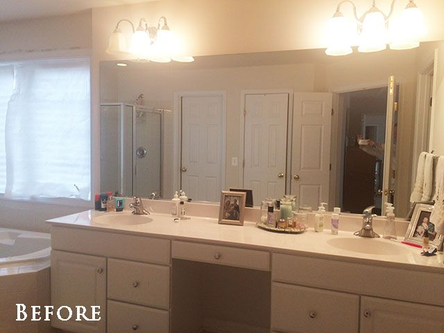 How To Safely And Easily Remove A Large Bathroom Builder Mirror From The Wall 11 Magnolia Lane Large Bathrooms Bathrooms Remodel Large Bathroom Mirrors