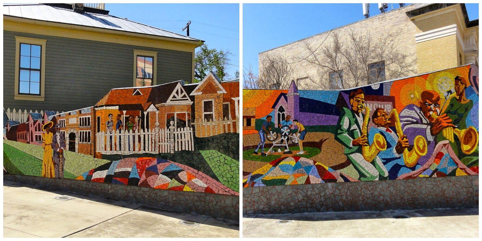 Austin Mural Rhapsody 11th Waller Mural Austin Murals Street Art