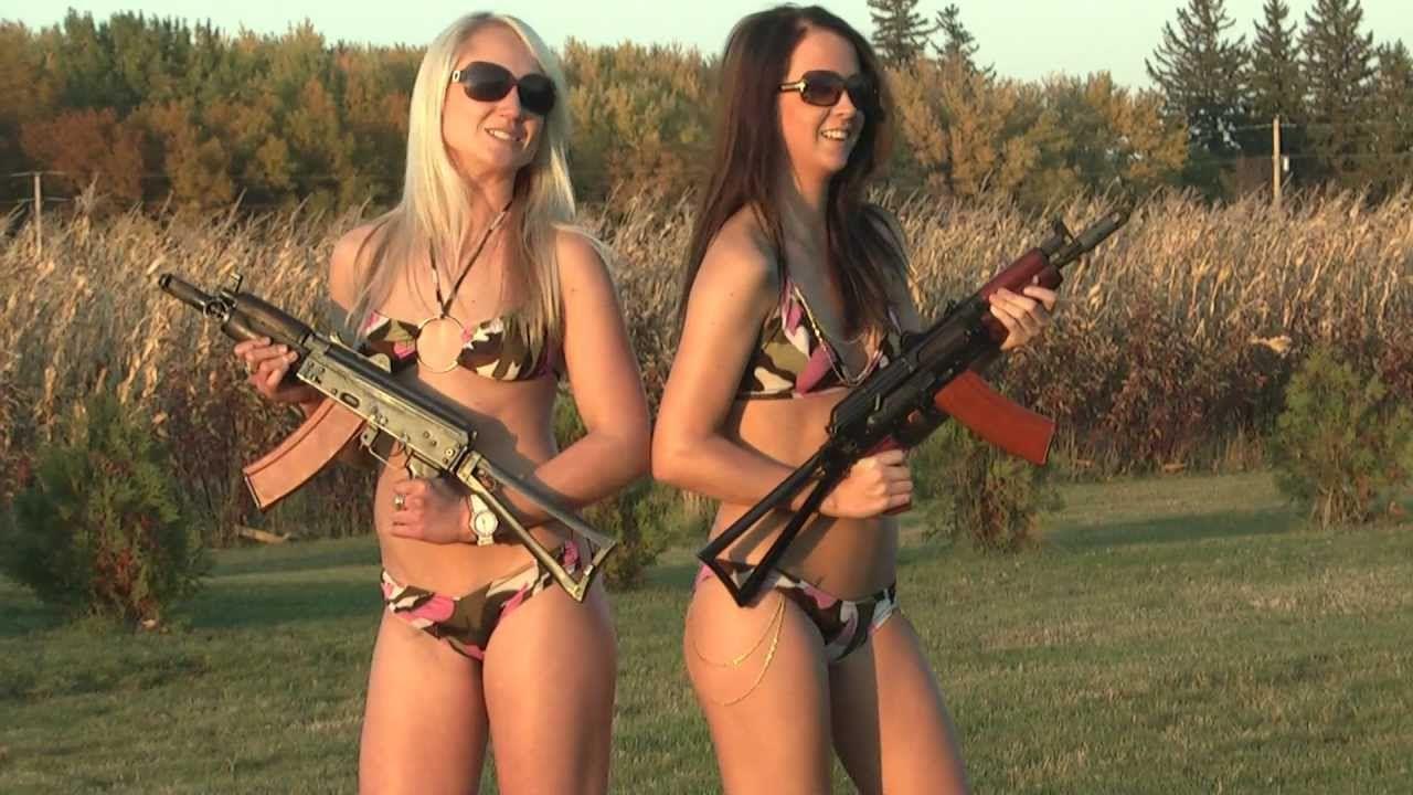 Guns Bikini girls shooting