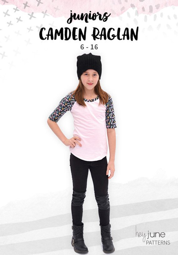 712f505d4 Camden Raglan, juniors, tweens, teens knit raglan shirt or hoodie with  kangaroo pocket pdf sewing pa