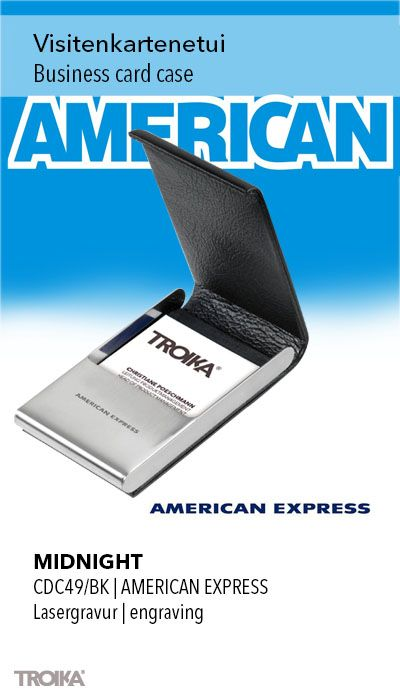Troika Midnight American Express Engraving Business Card