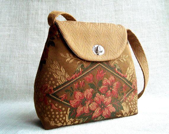 Handmade Purse With Fl Pattern Victorian Inspired Handbag