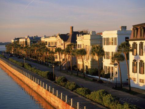 Historic Houses on Harbor, Charleston, SC Photographic Print - Ron Rocz | AllPosters.com