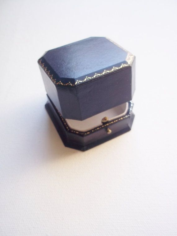 Vintage Bailey Banks Biddle Ring Box Navy Gold Collectibles Ring Box Blue Rings Vintage Engagement Rings