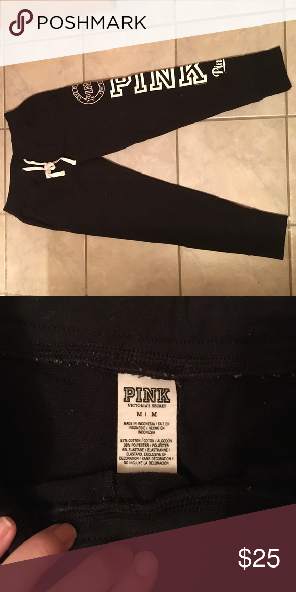 Pink Sweats VS Pink skinny sweats, size medium. They have only been worn a couple times, and are in brand new condition. PINK Victoria's Secret Other