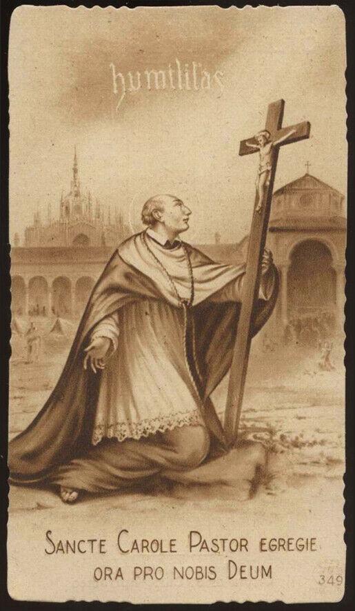 Santino Seppia Ediz Eb N 349 S Carlo Borromeo Santi Cattolici Immagini Religiose Ebay