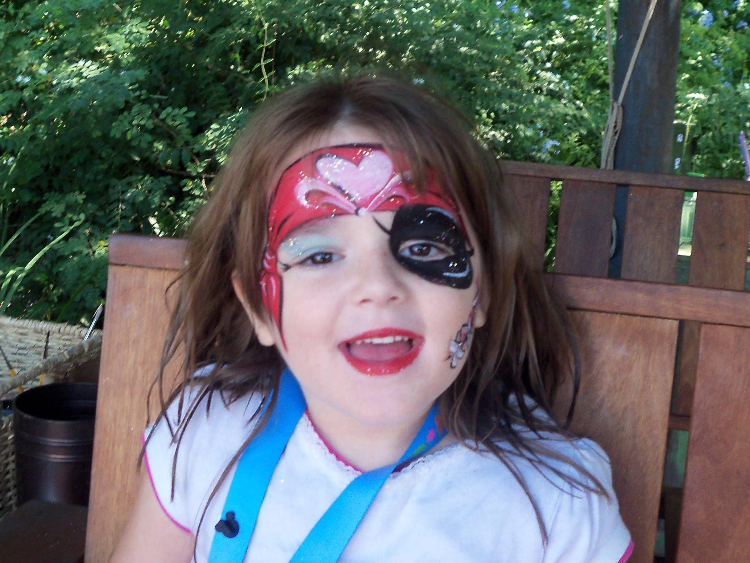 Trucco pirata bambina