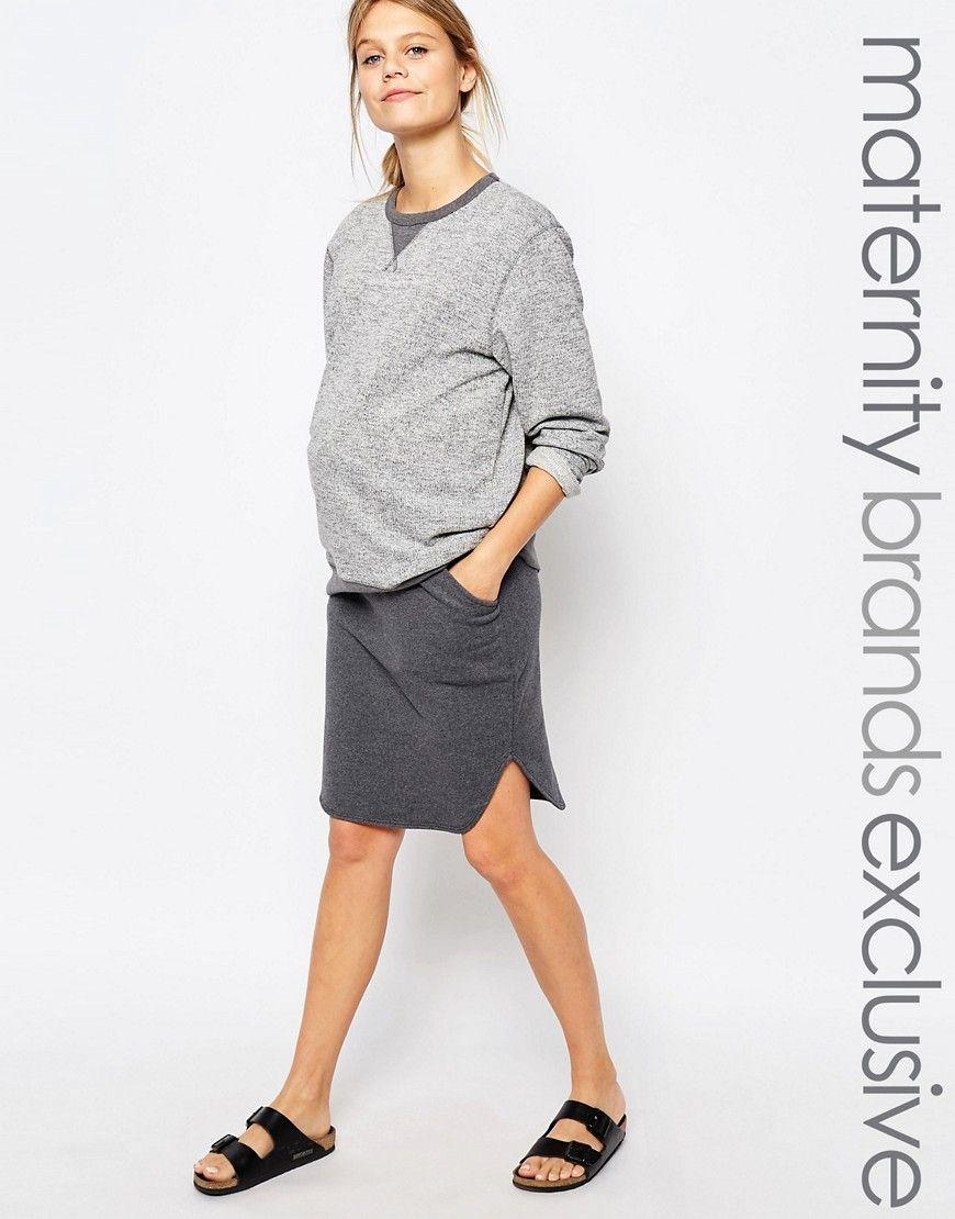 Bluebelle+Maternity+Lounge+Sweat+Midi+Skirt