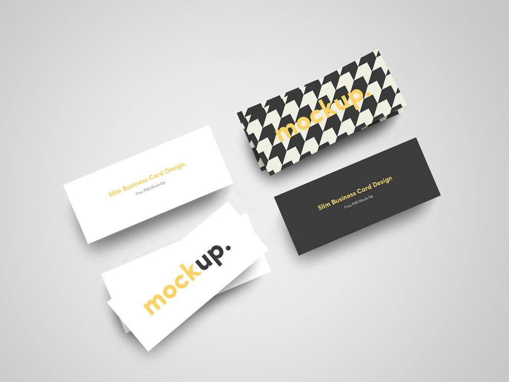 Slim business card mockup psd free download mockups pinterest slim business card mockup psd free download flashek Images