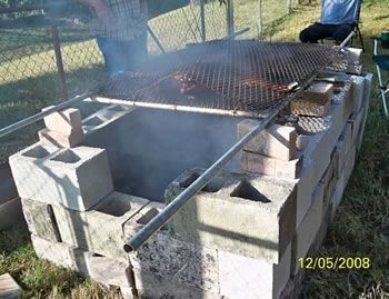 cinder block grill smoker how to build a pit for cooking a whole hog from concrete 473