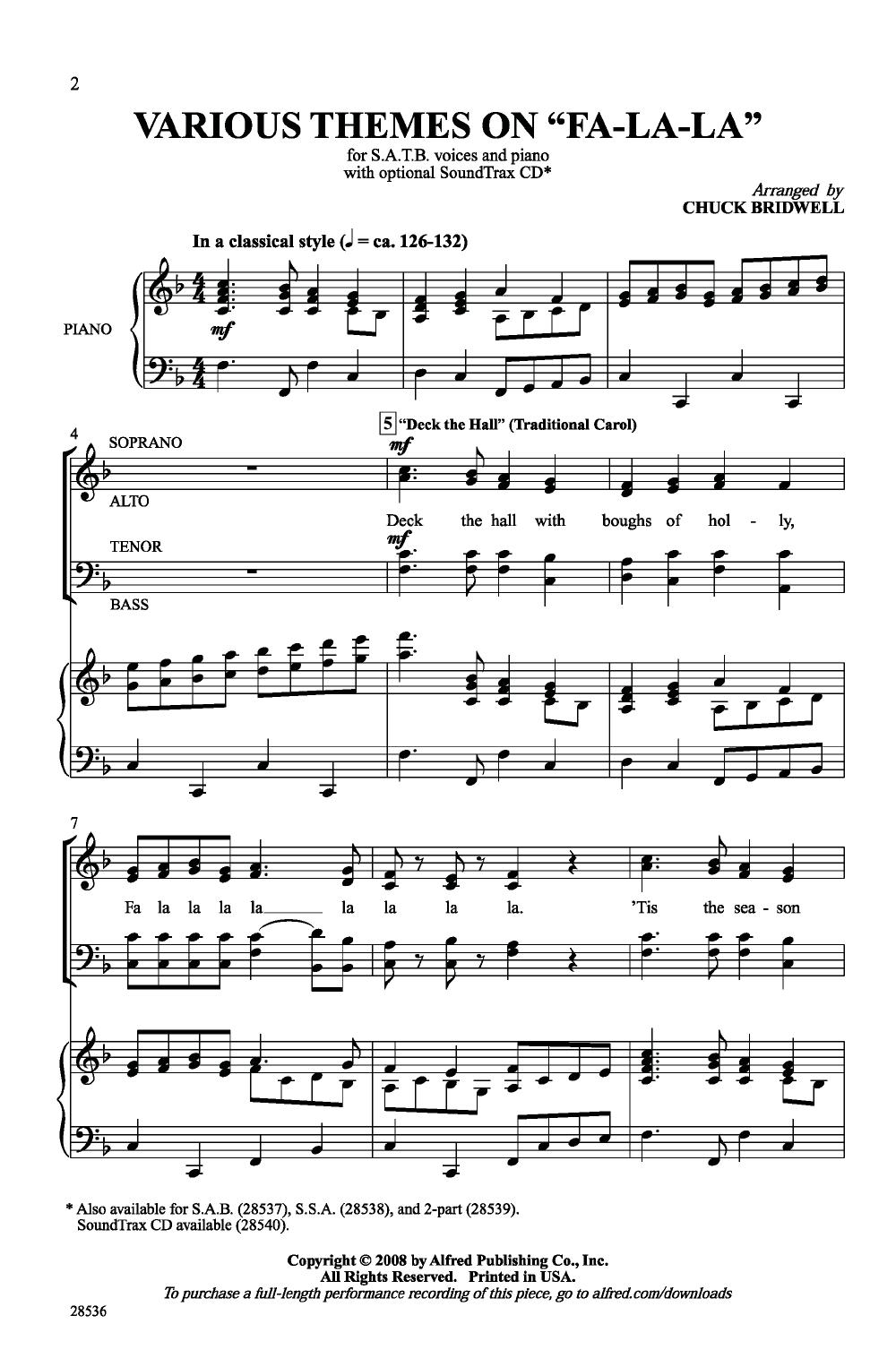 Various Themes On Fa La La Satb Arr Chuc School Choir Songs Choir Songs Choral Sheet Music