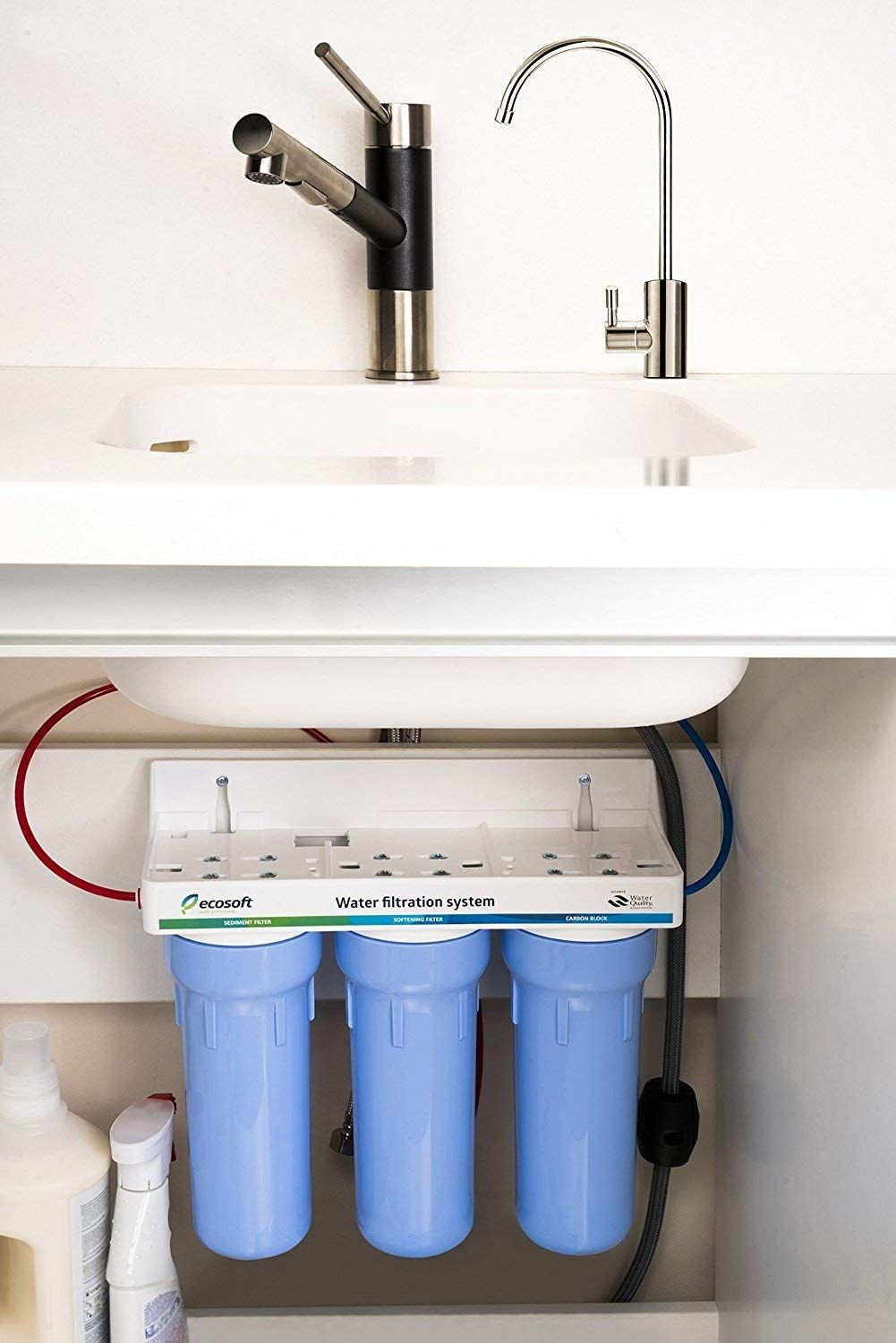 Amazon Com Ecosoft 3 Stage Under Sink Water Filter System For