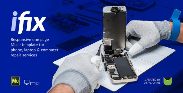 iFix - Phone, Tablet & Electronic Repair Service Responsive Muse ...